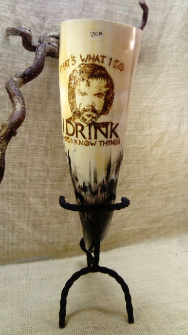 Trinkhorn 0,5l Tyrion/GOT/I drink and i know things